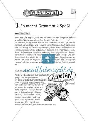 Kleine Spielideen für den Deutschunterricht: Komplette Sammlung von Unterrichtsideen
