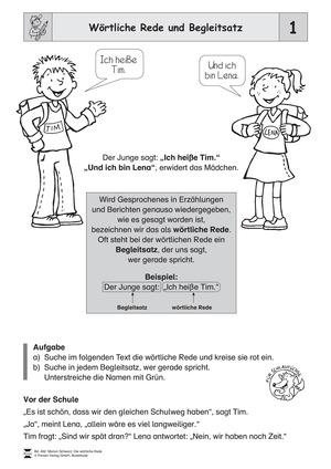 Die wörtliche Rede - Umfassendes Übungsmaterial für die 3,/4, Klasse: Merkblätter, Arbeitsblätter und Lösungsblätter