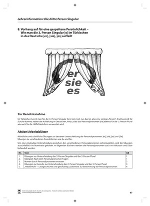 <b>Die dritte Person Singular:<br> Lehrerinformationen, Arbeitsblätter und Lösungen</b><br> Deutsch • Hauptschule • 5. - 6. Klasse<br> 7 Seiten • Persen Verlag