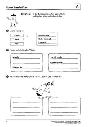 Gebrauchstexte: Übungsblätter