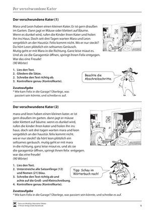 Abschrift und Wörterbucharbeit: Übungen