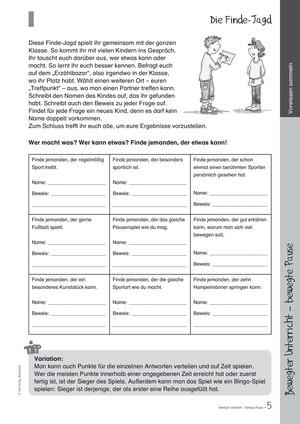 Übungen und Spiele für eine bewegte Grundschule: Material komplett