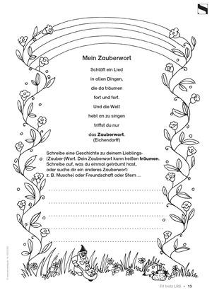 """<b>Lese - Rechtschreibschwäche (LRS) - Ableiten: """"Zauberwort - Geschichte""""</b><br> Deutsch • Grundschule •  2.-4. Klasse<br> 1 Seite • AOL-Verlag"""