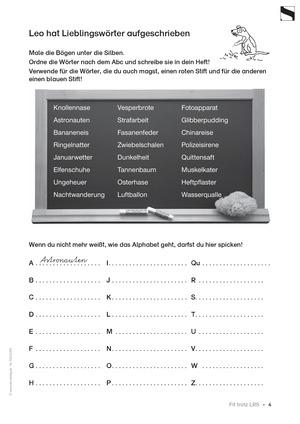 Leserechtschreibschwäche (LRS) - Schwingen - Vertiefung:
