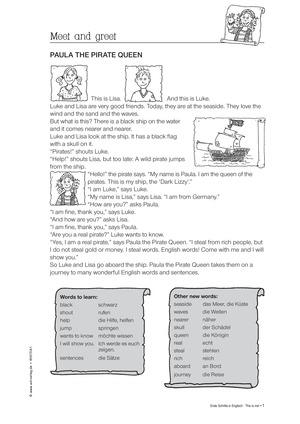 englisch grundschule unterrichtsmaterial auf