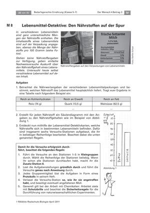 Lebensmitteldetektive: Experimente zum Nachweis von Nährstoffen