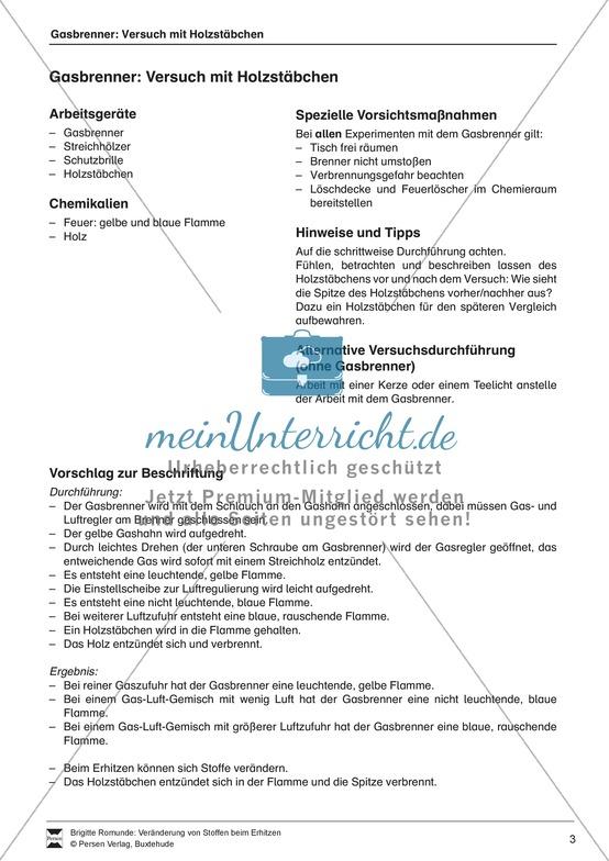 Arbeitsblätter für Chemie Klasse 5 | meinUnterricht.de