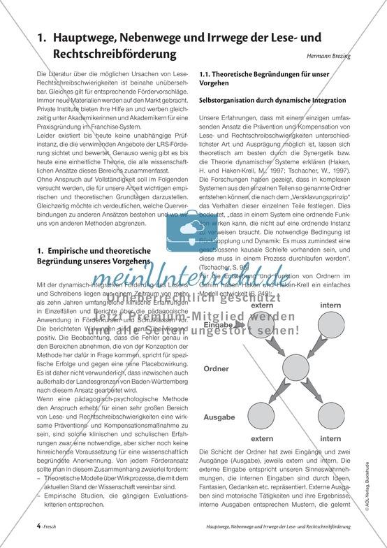 Infotext: Hauptwege, Nebenwege und Irrwege der Lese-Rechtschreibförderung