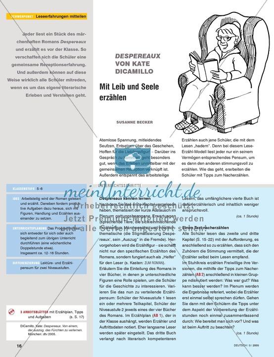 Romane - Leseerfahrungen mitteilen: Literarisches Erleben + Verstehen am Beispiel