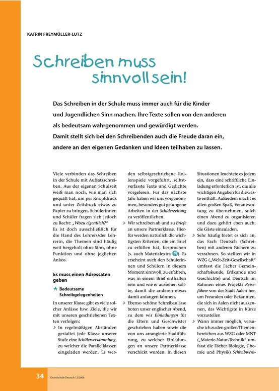Arbeitsblätter für Deutsch, 5. Klasse | meinUnterricht