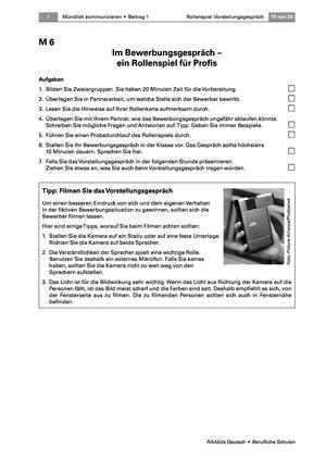 Thema Bewerbung: Sich im Bewerbungsgespräch überzeugend präsentieren können
