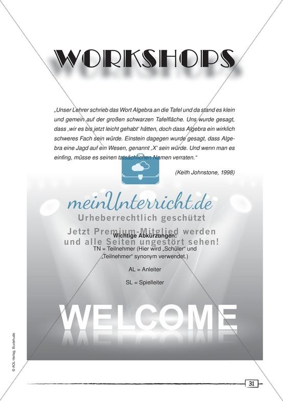 Dramapädagogik: Workshops