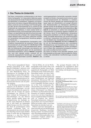 Überprüfung von Kartenaussagen: Interpretation und Manipulation in der thematischen Kartographie