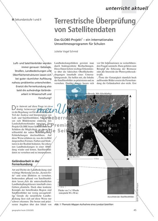 Fernerkundung: Das GLOBE-Projekt - Terrestrische Überprüfung von Satellitendaten