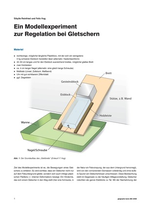 Schülervorstellungen zu Gletschern: Bauanleitung Modell + historische Gletschervorstellungen