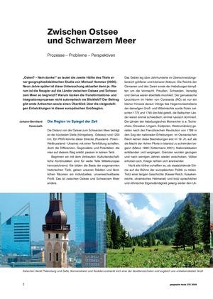 Basisartikel: Zwischen Ostsee und Schwarzem Meer - Prozesse, Probleme, Perspektiven einer unentdeckten Region