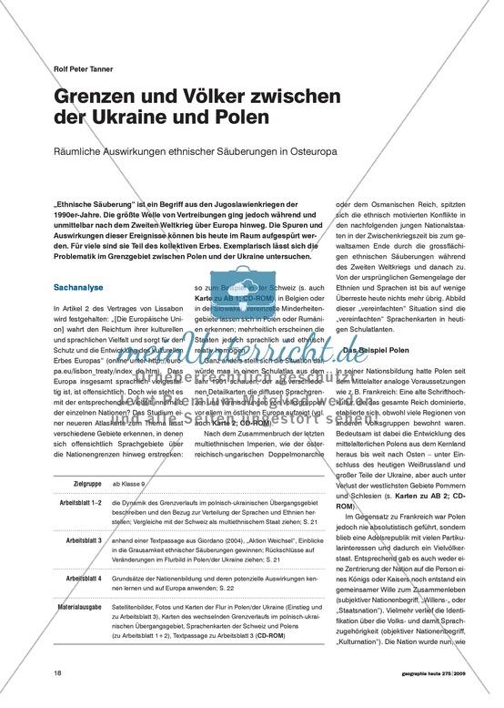 Räumliche Auswirkungen ethnischer Säuberung in Osteuropa: Nationalismus im Jugoslawenkrieg