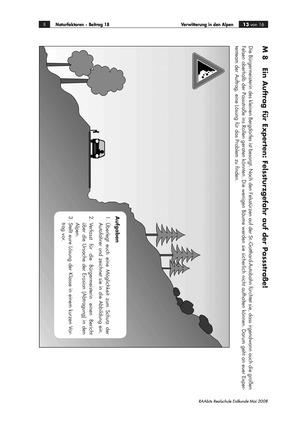 Verwitterung in den Alpen: Ursachen für einen Felssturz + Schutzmaßnahmen für eine Straße diskutieren