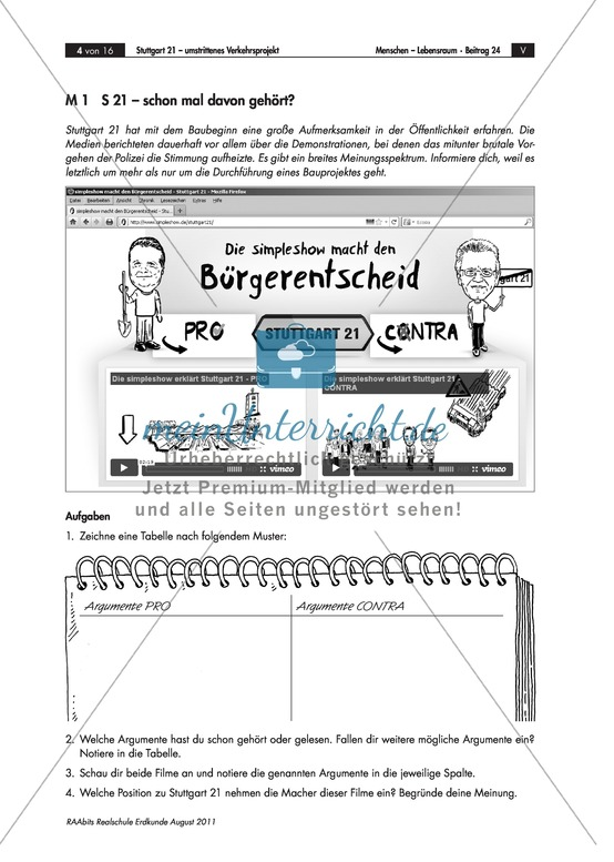 Raumstrukturen: Stuttgart 21 – ein Verkehrs-Großprojekt