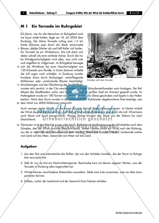 Äolische Kräfte: Sturmschäden + Windstärke