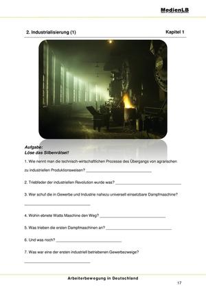 Arbeiterbewegung in Deutschland 1848 bis 1914: Industrialisierung
