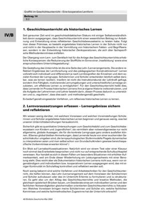 <b>Graffiti im Geschichtsunterricht - Eine kooperative Lernform</b><br> Geschichte • Hauptschule, Realschule, Gymnasium, Gesamtschule • 5.-13. Klasse<br> 10 Seiten • Raabe Verlag
