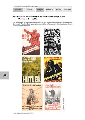 Lernzirkel zur Weimarer Republik und den Ursachen ihres Scheiterns: Station zu den Parteien