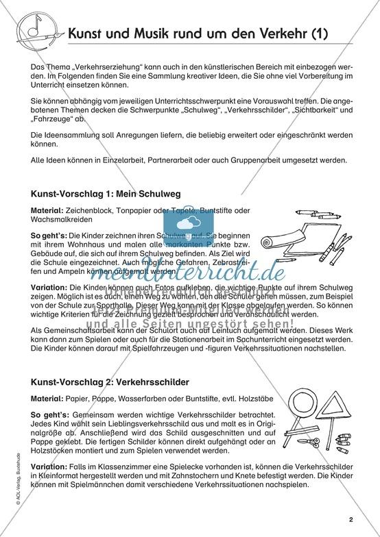 """Unterrichtsideen zum Thema """"Kunst und Straßenverkehr"""""""
