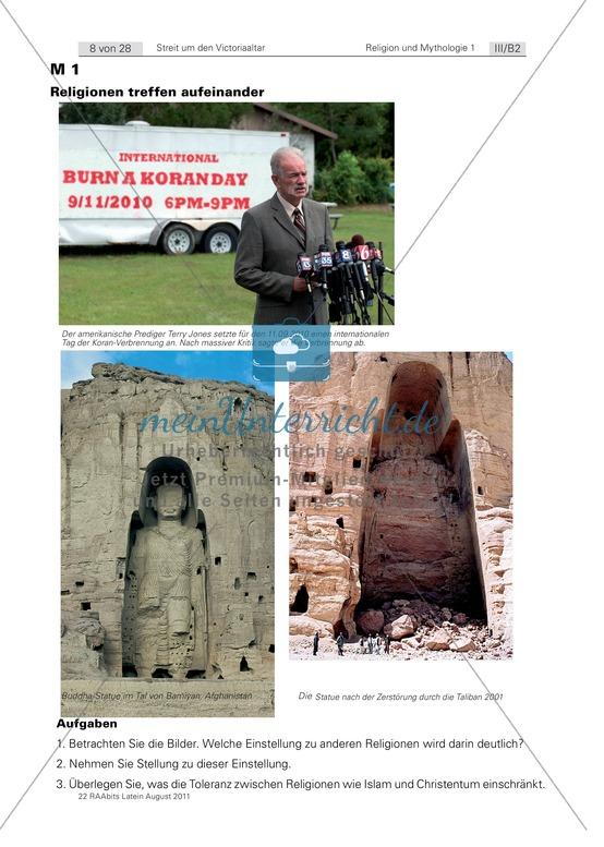 Religion heute und im römischen Reich: Religion als abolutistische Idee.