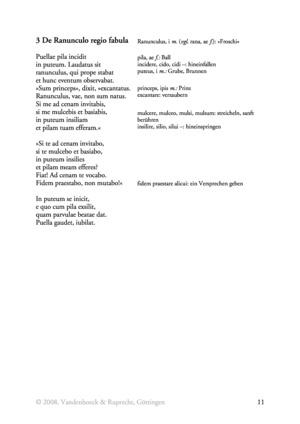 Der Froschkönig auf Latein: Text + Vokabeln + Übungen zum Futur I