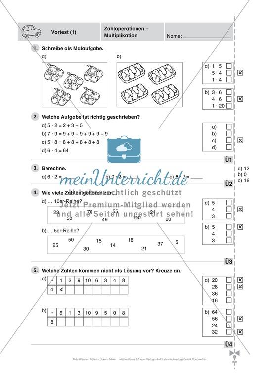 Arbeitsblu00e4tter und u00dcbungen fu00fcr das Fach Mathe in der 2. Klasse