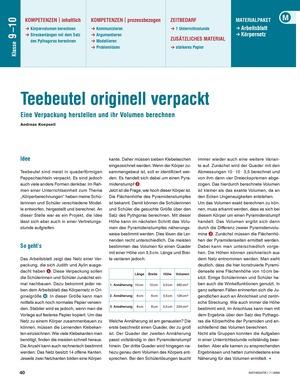 Volumenberechnung am Beispiel von Verpackungsmaterial