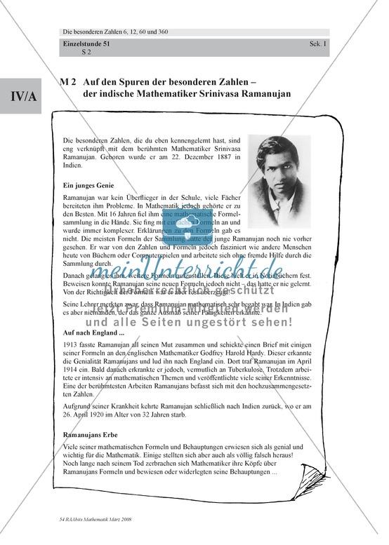 Besondere Zahlen: Hintergründe zum indischen Mathematiker Ramanujan