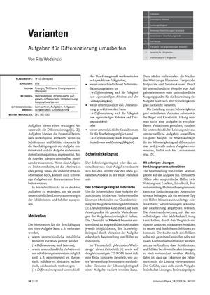 Infotext zum Umarbeiten von Übungsaufgaben zur Differenzierung