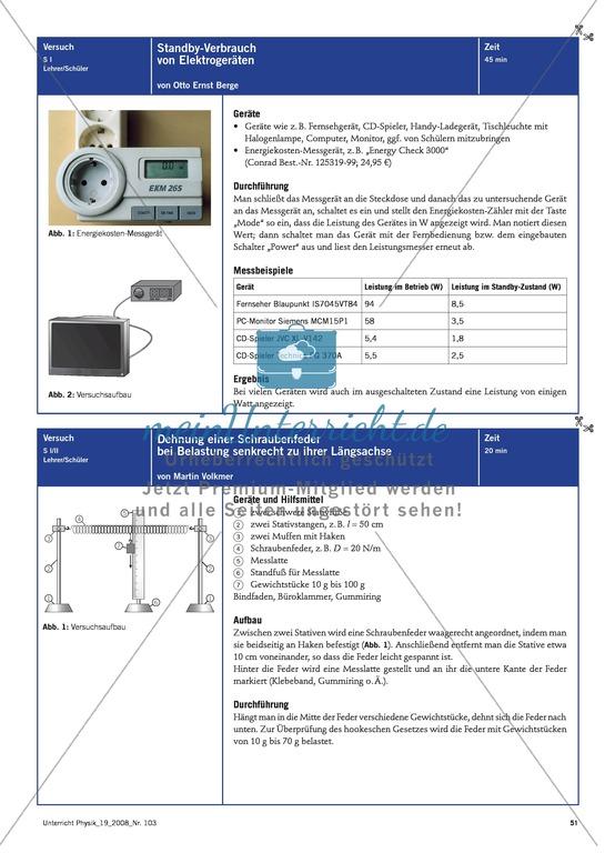 Freihandversuche: Messung des Stand-By Verbrauchs von Elektrogeräten