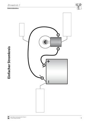 Elektrizitätslehre: Vorlage für ein Versuchsprotokoll zur Parallel- und Reihenschaltung von Lampen mit Lösungen