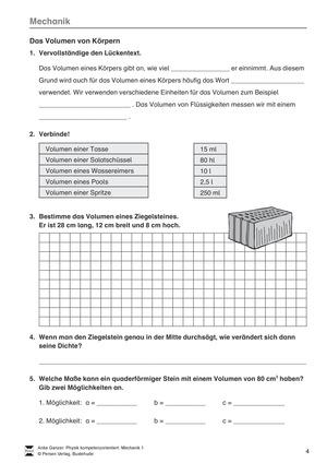Physik Förderschule: Unterrichtsmaterial bei meinUnterricht.de
