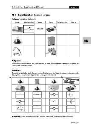 Elektrizitätslehre: Einführung von Stromkreisen und ihren Schaltbildern und Kurzschlüssen