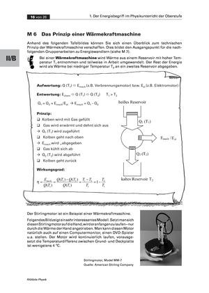 Der Energiebegriff: Das Prinzip einer Wärmekraftmaschine