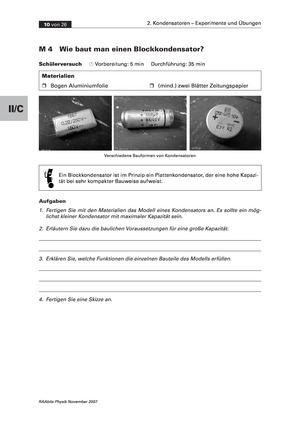 Kondensatoren: Blockkondensatoren + Isolatoren zur Steigerung der Kapazität