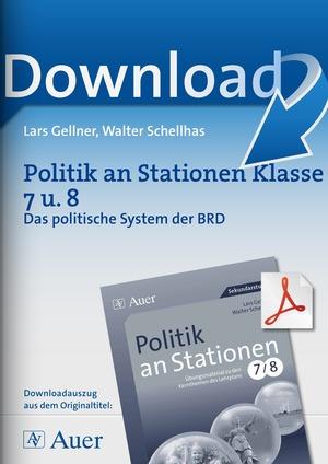Stationenlernen zum Thema 'Das politische System der BRD'