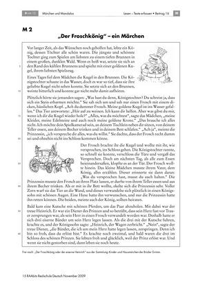 Märchen kennenlernen + Rätsel + Mandala am Beispiel